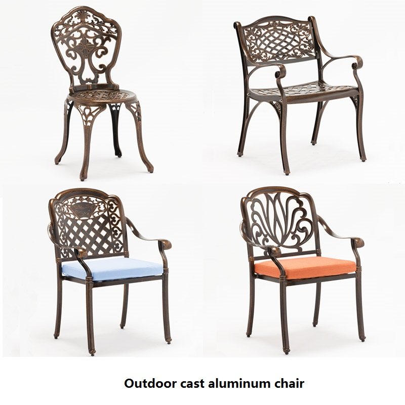 Outdoor cast aluminum chairs garden outdoor balcony chair indoor lounge cast aluminum chair