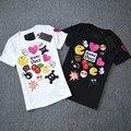 Women's leisure decals cartoon cotton T-shirt