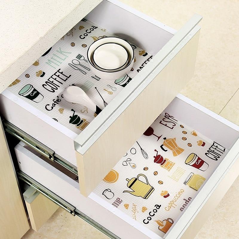 30*300cm Flamingo Pattern Printed Cabinet Sticker Kitchen Moisture proof Drawer Liner Shelf Pad Place Mat Table Runner Drawer & Shelf Liner     - title=