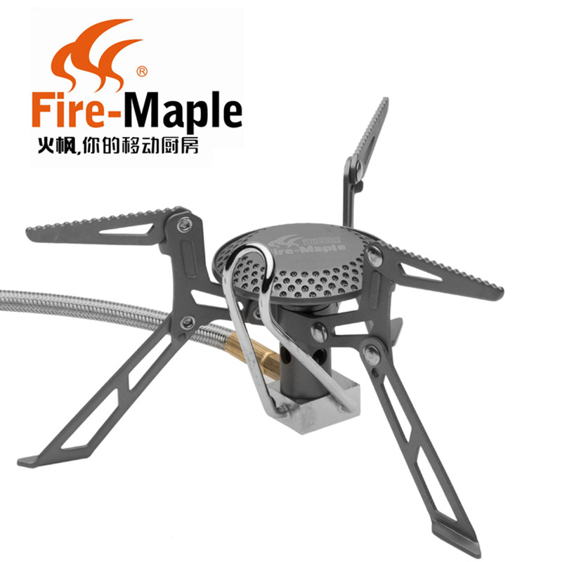 Fuego de arce FMS-117H versión mejorada de la estufa de Gas Ultra Luz de aleación de titanio al aire libre cocina quemador de Gas buen embalaje