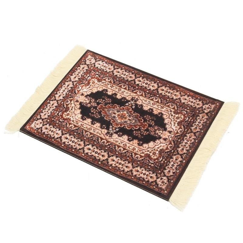 Superb 280 X 180mm Carpet Mouse Mat Mousepad Persian Style Woven Rug Mouse Pad  Rubber Mat Decor