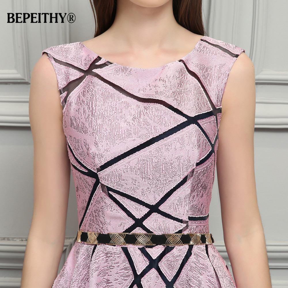 BEPEITHY Vintage Pink Long Evening Dress Simple Style New Formal Gowns 2019 Vestido De Festa Longo With Belt