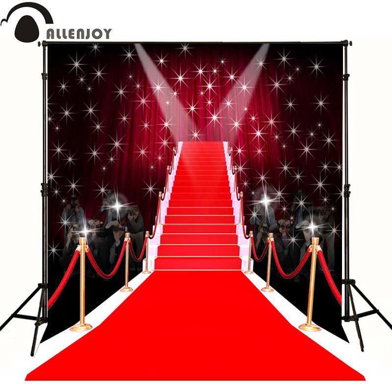 Allenjoy photographic background Tees dazzling red carpet fashion photography fantasy send folded fabric vinyl photocall