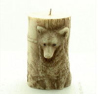 3D Silicone Soap Candle Mold Wolf Cake Molds Chocolate Silicon Soap Mold Animal Fondant Cake Decoration