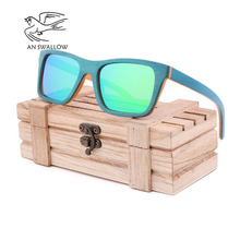 Classic fashion ladies wooden sunglasses 2019 new skateboard wood glasses polarized TAC lens UV400 bamboo
