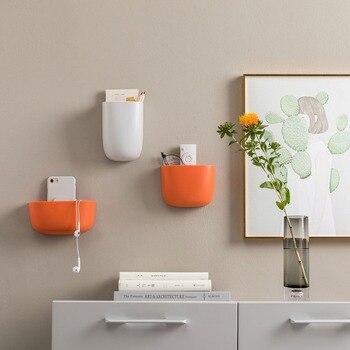 3 Couleurs Original Xiaomi Mijia Boîte De Rangement Murale Trois Tailles Peuvent être Fixes Conception Collante Simple Stockage Maison Intelligente