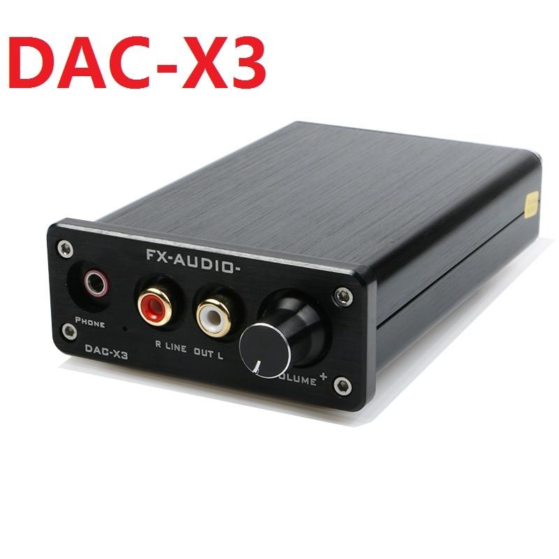 2018 New FX-AUDIO MINI DAC-X3 Digital Audio Decoder Input USB/Coaxial/Optical Max 24Bit/192KHz Headphone Audio Amplifier feixiang fx audio mini dac x3 fiber coaxial usb decoder 24bit 192khz usb dac headphone decoder audio amplifiers