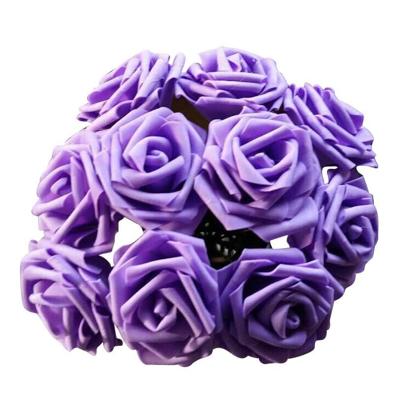 100 Pieces / Lot 8cm Artificial Flowers For Wedding Rose Party Bride Bouquet Pe Foam Fake Rose Diy Home Decor Rose Flowers