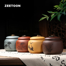 Authentic Yixing Tea Cans Purple Clay Candy Jar Storage Caddy Boutique Creative Pottery Puer Cylinder Barrel 4 Gentleman New