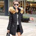 2016 Autumn & Winter Women Parka Outerwear Duck Down Jacket With Large Fur Collar Plus Size M - XXXXL Thickening Long Coat