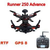 Walkera Runner 250 Advance с камерой 1080 P gps система Racer RC Дрон Квадрокоптер RTF с DEVO 7/OSD/камера gps 8 версия