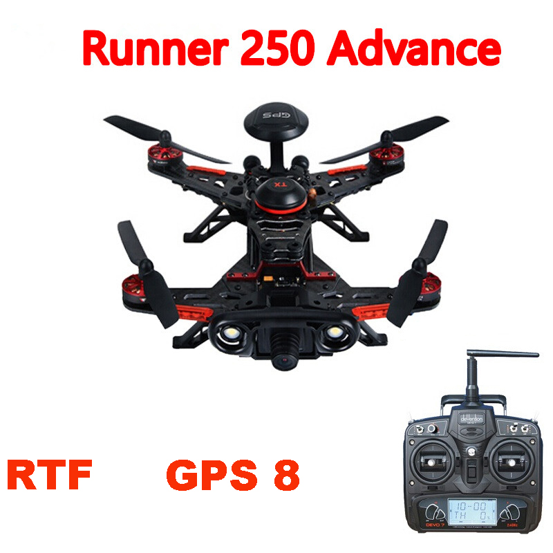 Walkera Runner 250 Advance with 1080P Camera GPS System Racer RC Drone Quadcopter RTF with DEVO 7 / OSD / Camera GPS 8 Version