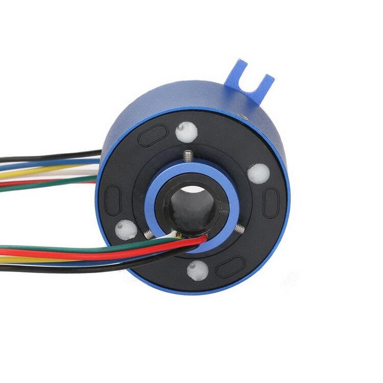 Through Hole Slip Ring 6 Circuits 10A Circuit Hollow Shaft 12 7mm