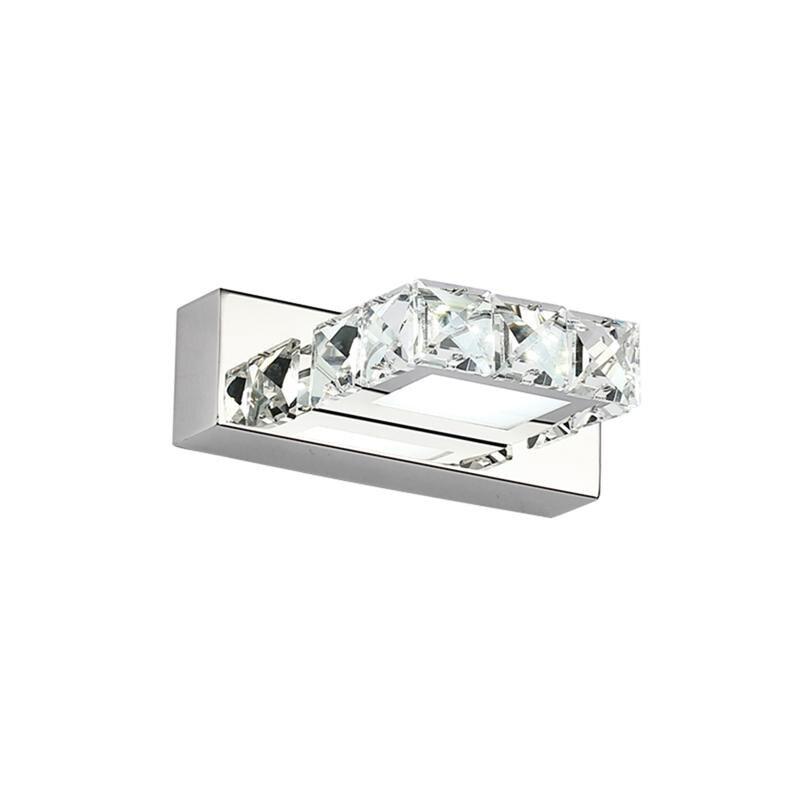 Square K9 6W Crystal Bathroom Light Fixtures Led Bath ... on Crystal Bathroom Sconces id=15602
