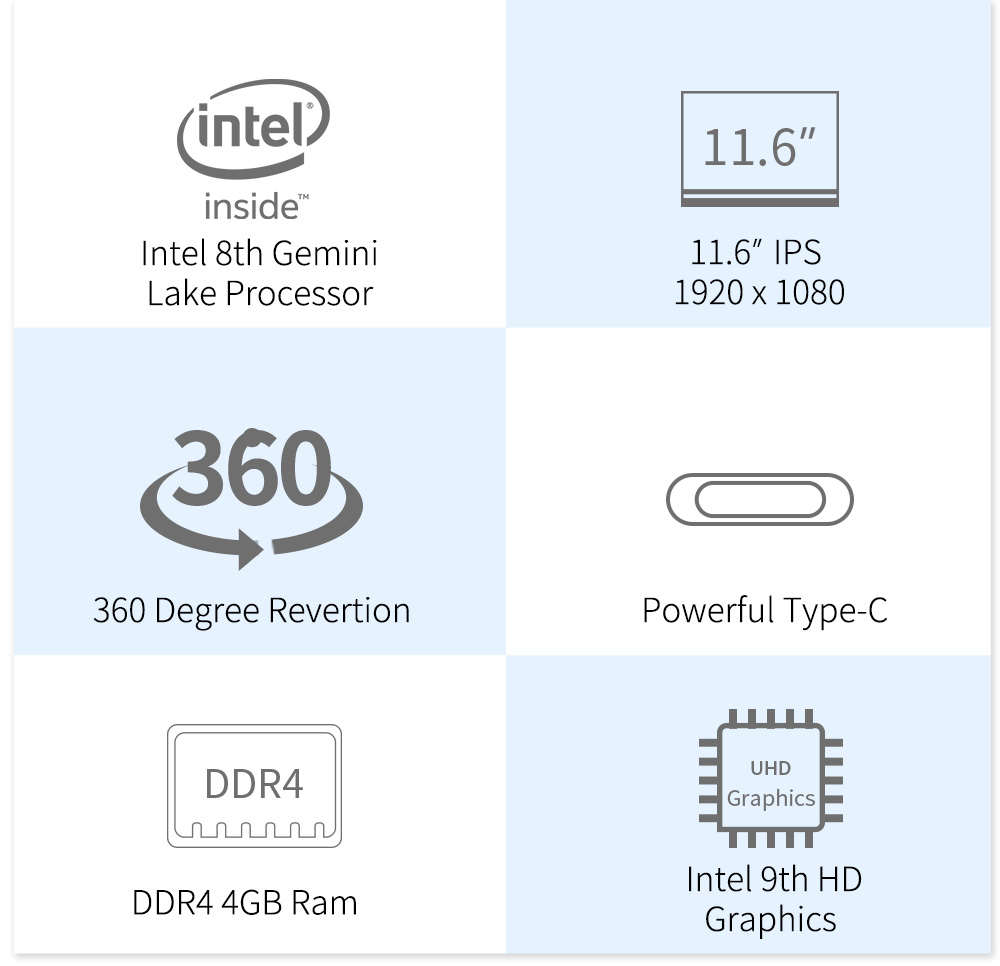 Jumper EZbook X1 11.6 FHD IPS Touchscreen laptop (2)
