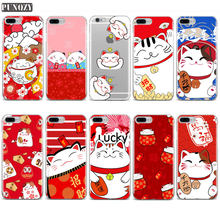 China leuke lucky cat nieuwe jaar kerstcadeaus telefoon case voor iphone 6 6s 7 8 plus 4 s 5 s se X XS MAX XR Soft TPU Silicone Cover(China)