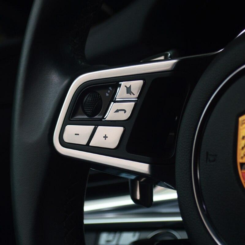 2PCS Gear box Buttons Aluminum alloy Decorative Trim For Porsche Panamera 2015
