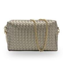 Hohe qualität mode stricken frauen tasche kette tasche umhängetasche frauen handtaschen aus leder umhängetasche