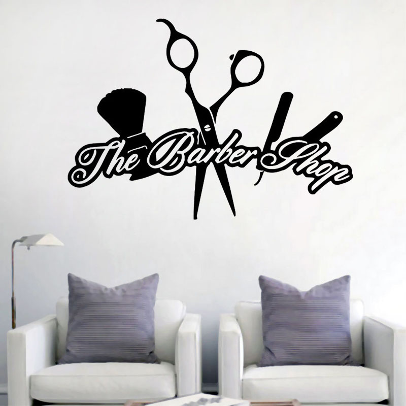 New Arrival The Barber Shop Creative Wall Stickers Hairdressing