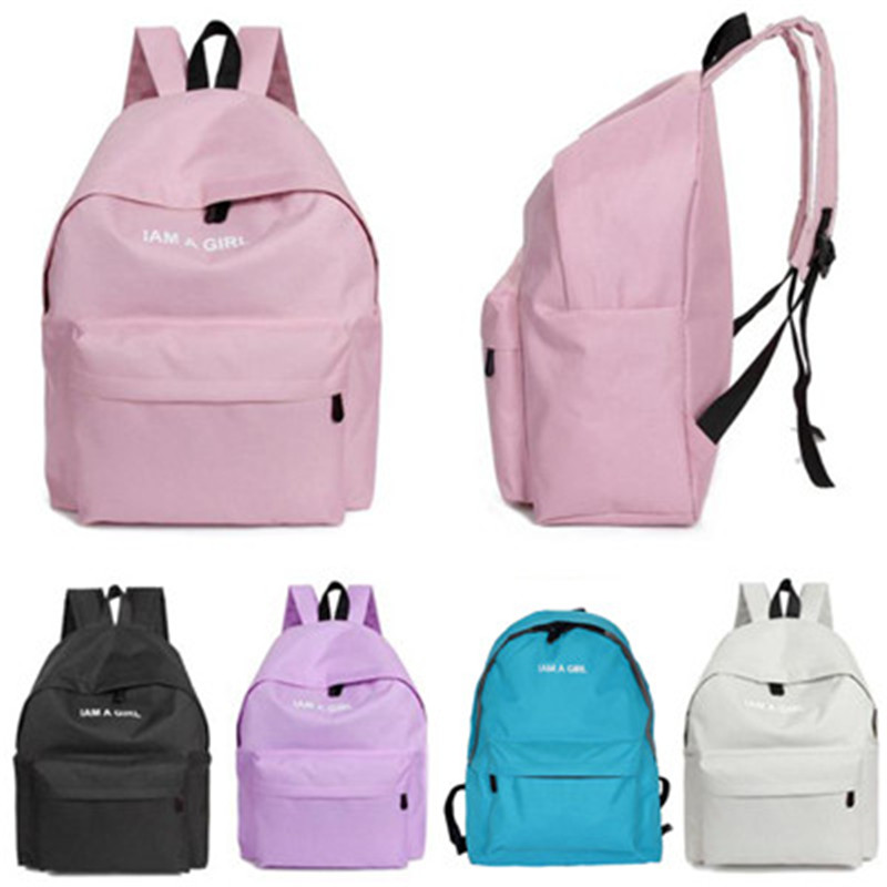 Teenage Girls Canvas Solid Zipper School Bag Travel Backpack Satchel Women Shoulder Rucksack Star the same paragraph B#dropship miwind women canvas backpack fashion 4 pieces set printing school backpacks for teenage girls travel shoulder bag rucksack cb249