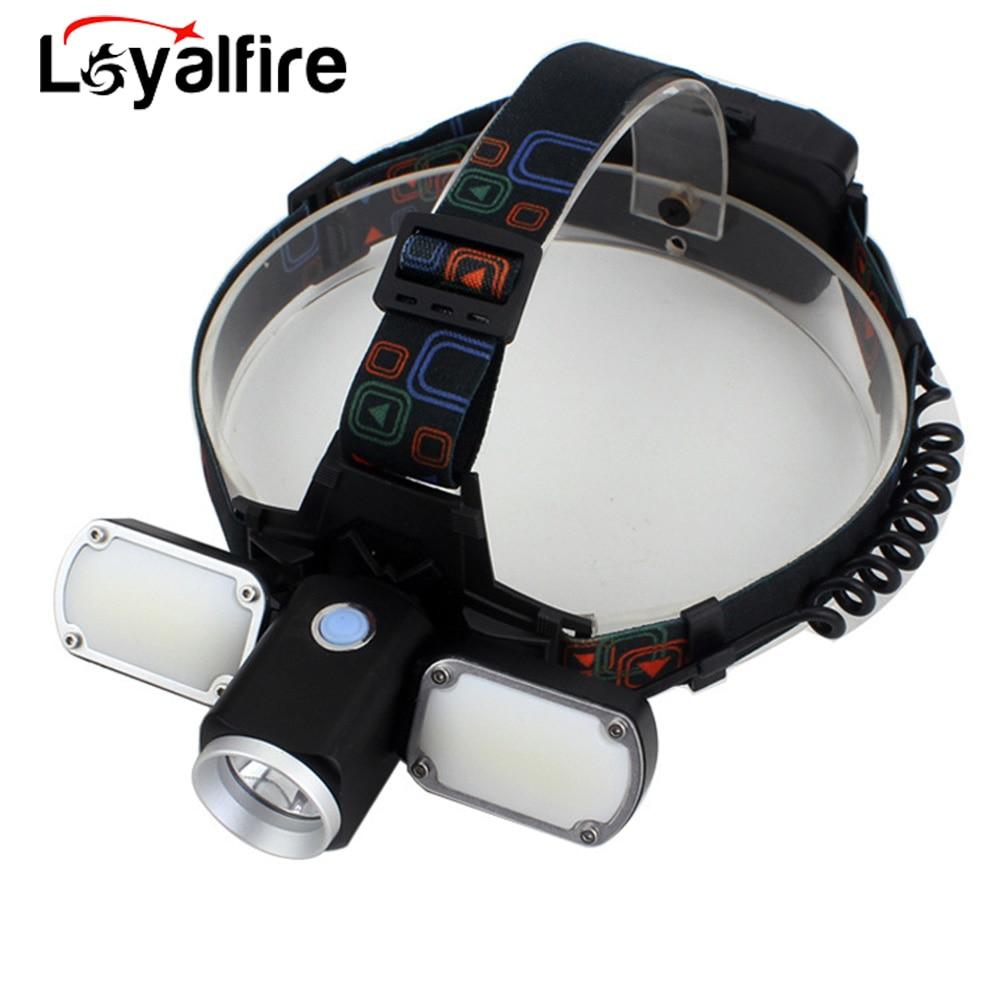 Led Rechargeable Headlamp Head Torch Headlight Flashlight