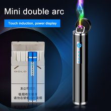 Mini Double Arc Plasma Lighter Cylinder Electric USB Cigarette Lighters Rechargeable Windproof Smoking Accessories encendedor