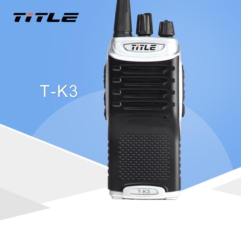 (1 PCS) KSUN T-K3 Skinka Tvåvägs Radio Walkie Talkie Dubbelbandstransceiver BUXUN T-K3