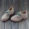 Обувь Женщина Квартиры обувь Из Натуральной Кожи Дамы Плоские Туфли Женщин Повседневная обувь Круглый носок зашнуровать Женской Обуви