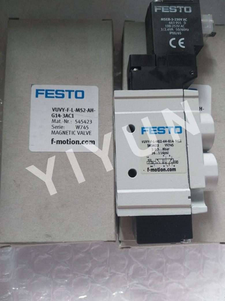 VUVY-F-L-M52-AH-G14-3AC1 545423 VUVY-F-L-M52-AH-G14-5C1 545424 VUVY-F-L-B52-H-G18-1C1 545317 FESTO Solenoid valve vuvs l20 p53c md g18 f7 575254 vuvs l20 b52 d g18 f7 575251 vuvs l20 m32c ad g18 f7 1c1 575269 festo solenoid valve