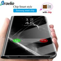 2018 Luxury Mirror Flip Case For Samsung Galaxy S8 S8 Plus Samsung S8 Leather Clear View