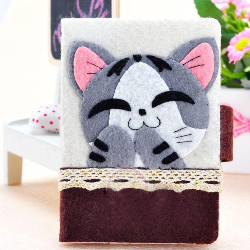 Felt Diy Craft Arts,crafts & Sewing Lovely Kitten Credit Card Holder Credit Card Wallet License & Passport Holder 10.5x7.5cm Felt Diy Package Handmade Sewing Art