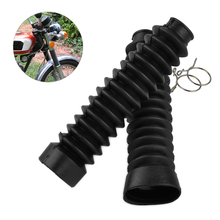 beler 2Pcs New Black Front Rubber Fork Dirt Dust Cover Gaiter Gator Boot Cap Shock Absorber Motorcycle
