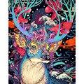 Sin marco Navidad ciervos animales DIY pintura por números Kits pintura al óleo pintada a mano regalo único para el hogar pared arte 40x50 cm