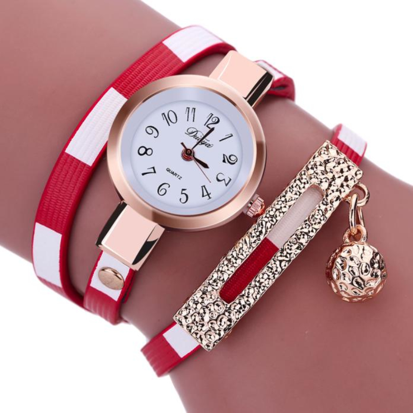 Creative Watch Wome Fashion Charm Wrap Around Leatheroid Quartz Watch relogio feminino bayan kol saati