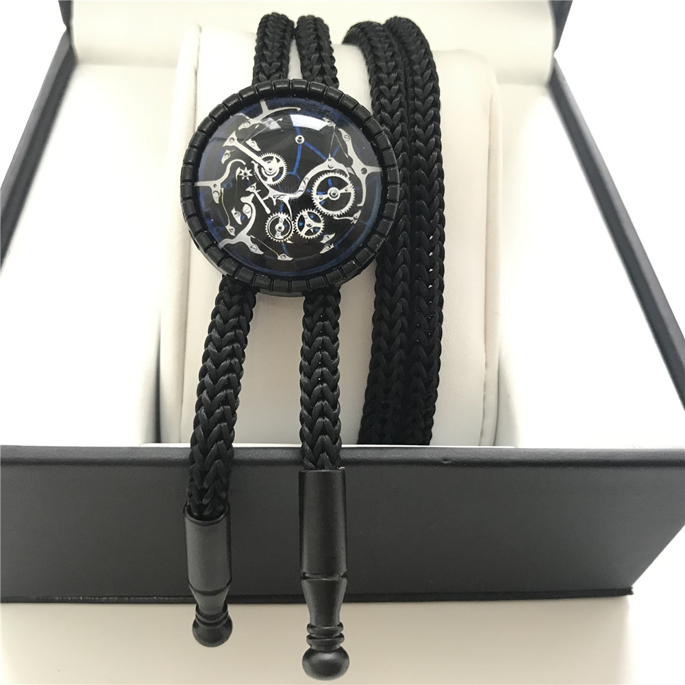 Watch Movement Unique Men Women Fashion Bolo Tie Boys Girls Students Jewelry Bow Ties Neck Wear As Gift