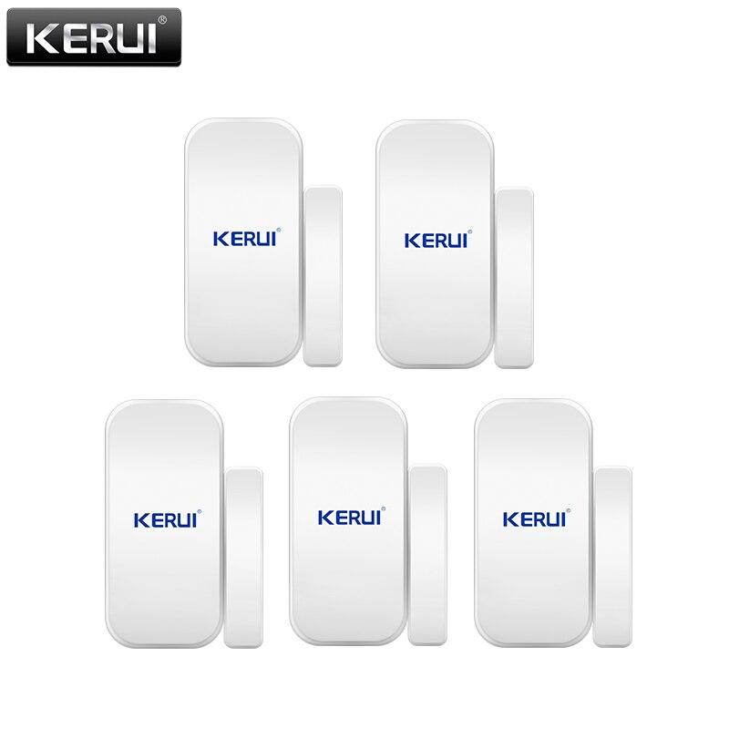 KERUI 433 Mhz Sensor inalámbrico de puerta/ventana para GSM PSTN sistema de alarma para el hogar sistema de alarma de seguridad de voz antirrobo sistema de alarma inteligente