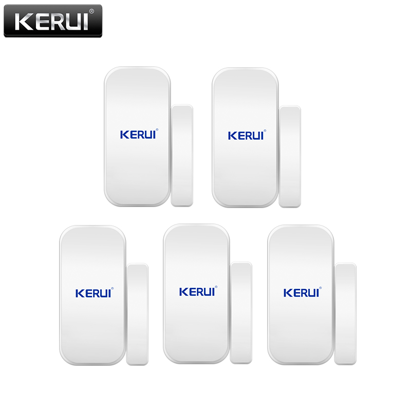 KERUI 433mhz Wireless Door/window Sensor For GSM PSTN Home Alarm System Home Security Voice Burglar Smart Alarm System new 433mhz wireless water leak intrusion detector work with gsm pstn sms home security voice burglar smart alarm system