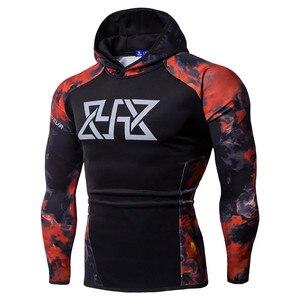 JAYCOSIN Men's Bodybuilding Tops Hoodie Sweatshirt Fitness Long Sleeve Blue Red Women's Shirt Running Print(China)