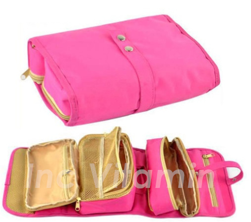 Roll Travel Organizer Shaving Case Toiletry Cosmetic Makeup Hanging Bag Holder 3 Colors Available - Oreo Inc store