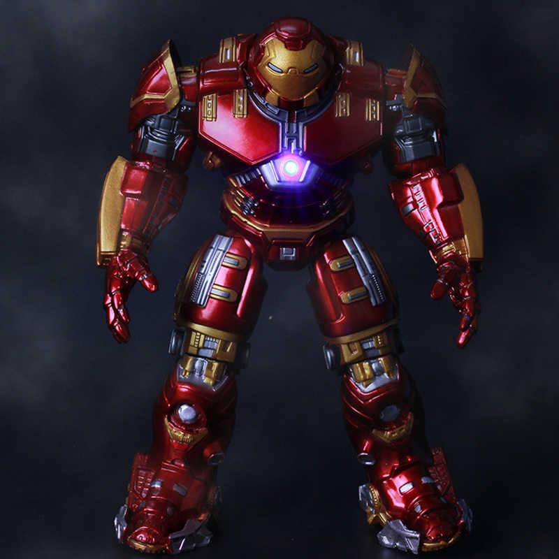 Мстители 2 Железный человек 18 см халкбастер Броня подвижные суставы ПВХ фигурка знак с светодиодный свет Коллекция Модель игрушки для детей # E