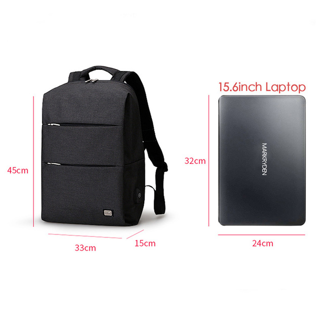 Mark Ryden New Men Backpack For 15.6 inches Laptop Backpack Large Capacity Stundet Backpack Casual Style Bag Water Repellent 1