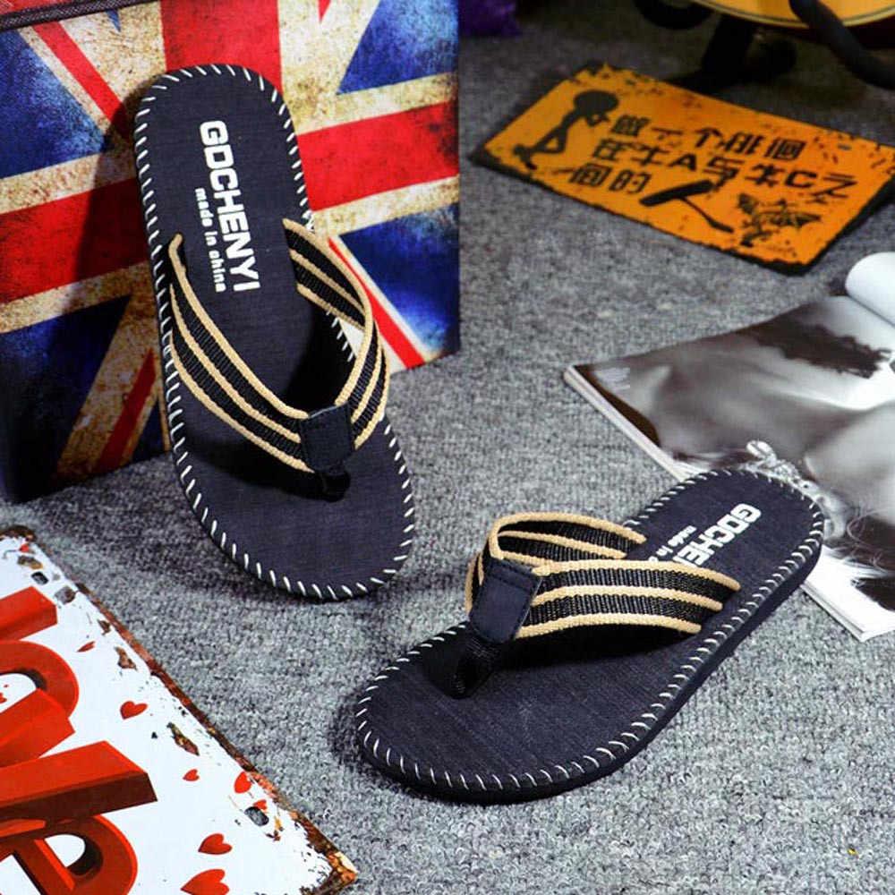 2019 הגעה חדשה גברים קיץ כפכפים נעליים מזדמנים חוף סנדלי זכר אופנה חיצוני כפכפים נעליים באיכות גבוהה