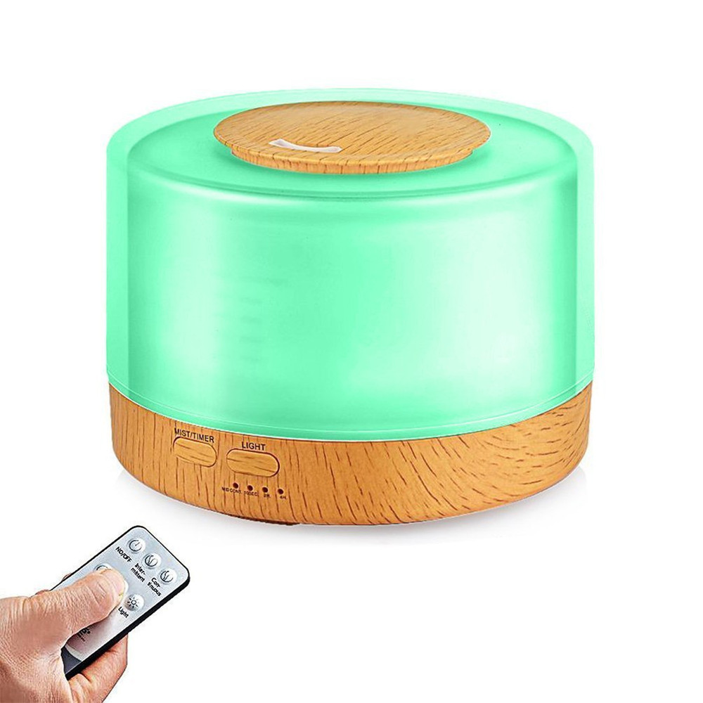 Home Office Bedroom Wood Grain Cool Mist Humidifier 500ml Ultrasonic Aroma Essential Oil Diffuser for Living Room Study Yoga Spa цена и фото