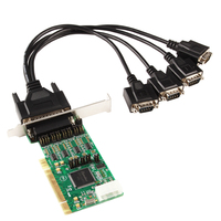 4 Ports RS422 RS485 Serial DB 9 Pin PCI Host Controller Card Chipset for SysBase