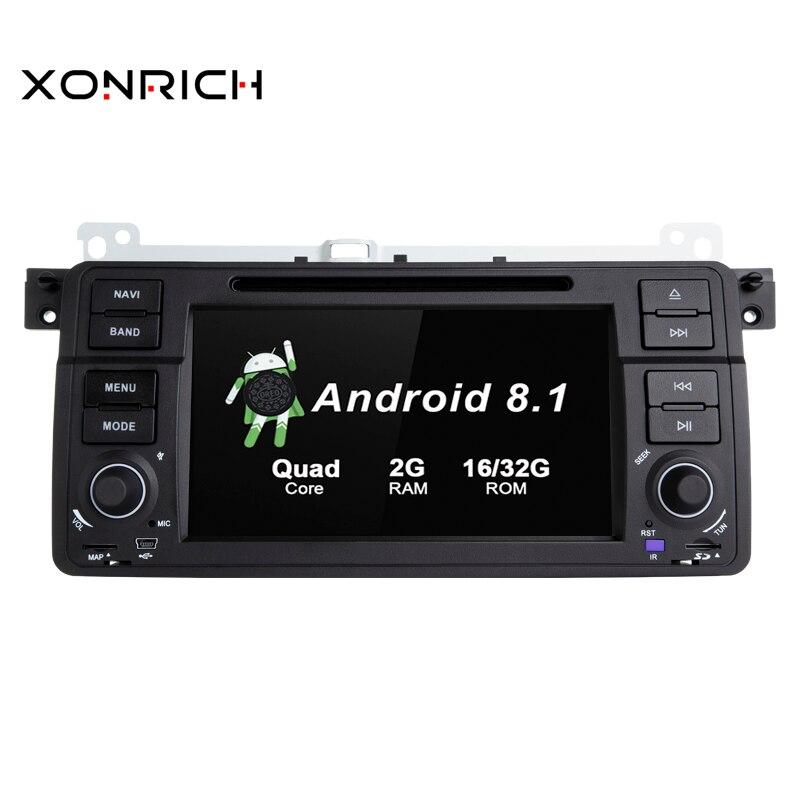 Quad Core Android 8.1 GPS Do Carro DVD Player de Rádio Para BMW/E46/M3/Rover/3 Series IPS 2g ROM 32g ROM Wifi FM DAB OBD Multimídia Estéreo