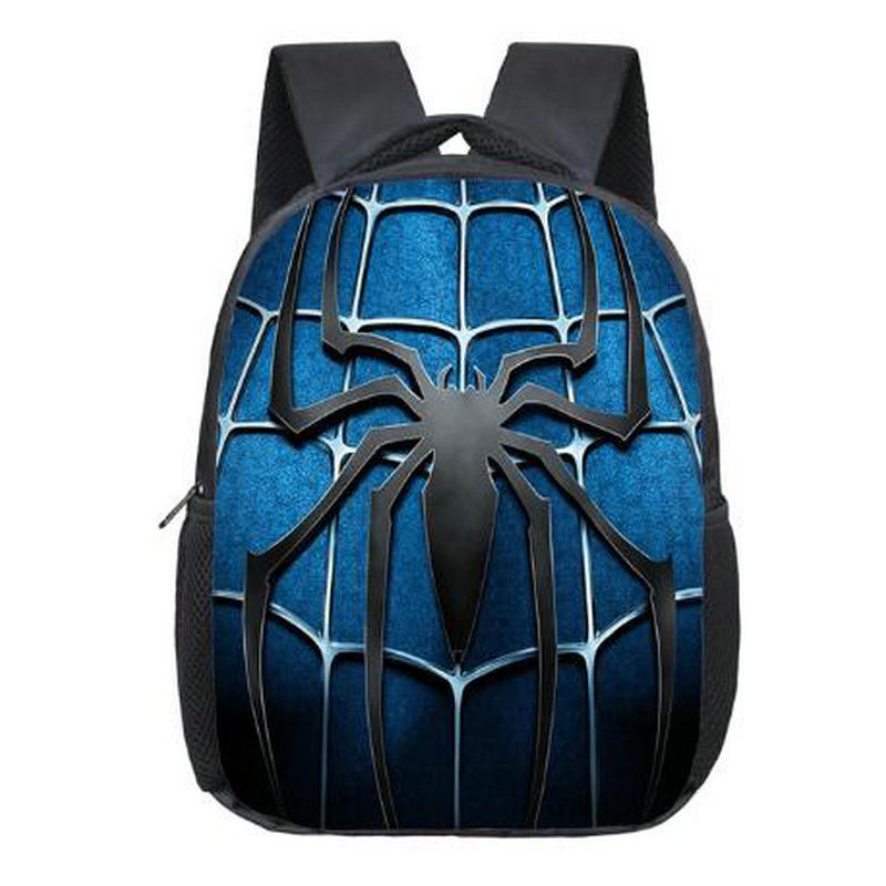 12 Inch Spiderman Backpack Students School Bags