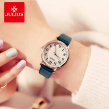 Julius Women Quartz Wrist Watch Ladies Dress Leather Strap Bracelet Watch Simple Casual  Arabic Number Couple Clock Montre Femme