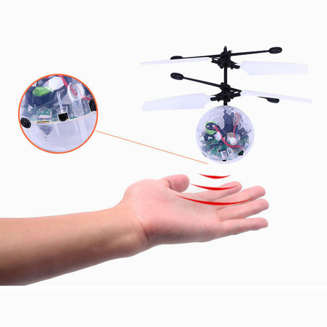 Electric Ball LED Light Aircraft Helicopter Induction LED lanterns Toy