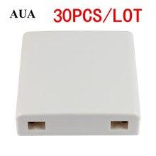30ピース/ロットftth ftth繊維パネル光ファイバー端子ジャンクションボックス86情報パネル86デスクトップボックス