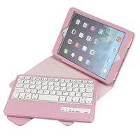 עבור אפל IPad Mini 4/3/2/1 מתקפל עור PU Folio Case כיסוי ולעמוד אלחוטית נשלפת מקלדת Bluetooth